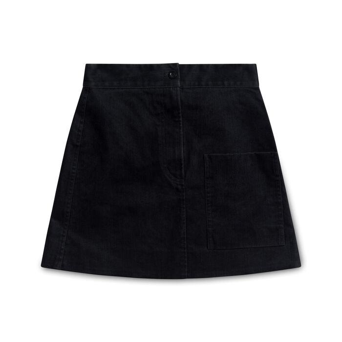 COS Denim Skirt with Pocket - Black