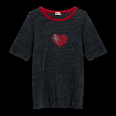 Saint Laurent Grey Heartbreak T-Shirt
