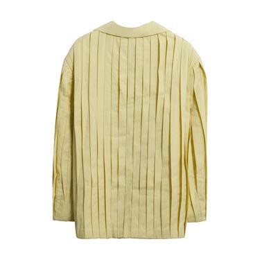 LEEWÉI Ma H Pleated Blazer in Soft Lemon