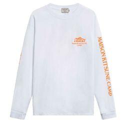 US MK Camp Long-Sleeved Tee-Shirt - White/Orange