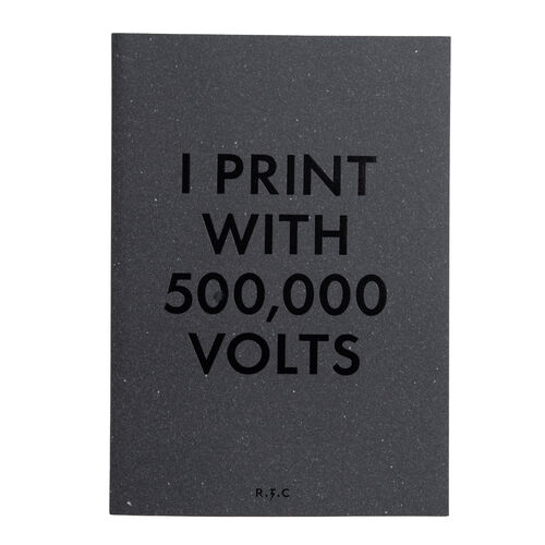 """I print with 500,000 volts""  Luke Evans Monograph"