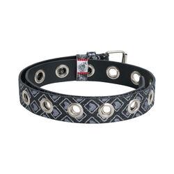 Vintage Glitter Grommet Belt
