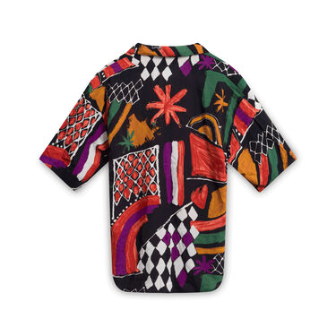 Vintage Mirrors Hawaiian Button-Down Shirt - Multicolor