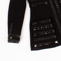 Chanel Boutique Patent Trim Jacket
