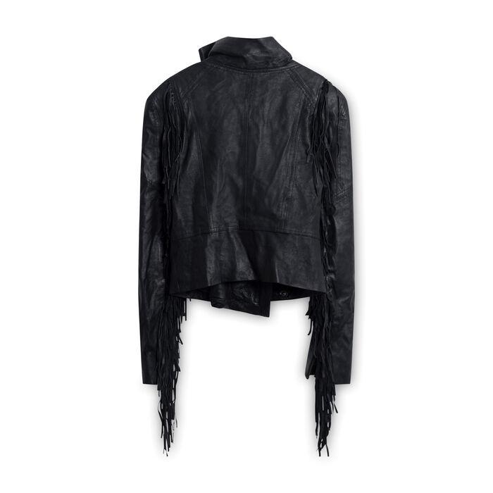 6 Shore Road Fringe Leather Jacket