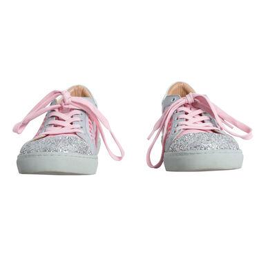 Sophia Webster Riko Glitter Cap-Toe Sneakers - Pink