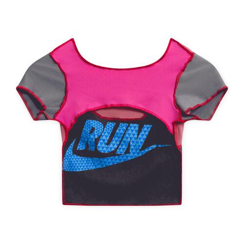 JJVintage Reworked Nike Crop Top - Pink/Gray