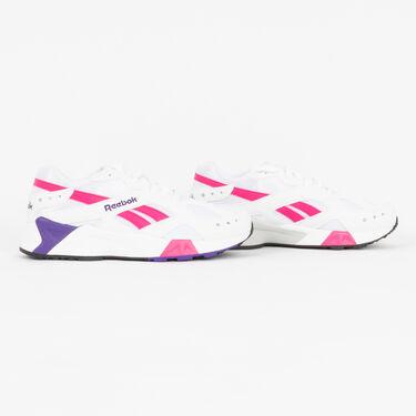 Reebok Aztrek Sneaker in White/Rose/Cobalt/Purple