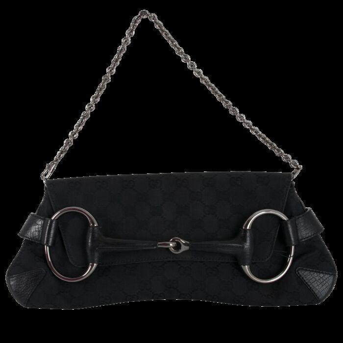 Gucci Monogram Horsebit Clutch