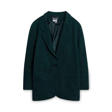 Sag Harbor Wool Blazer - Dark Green