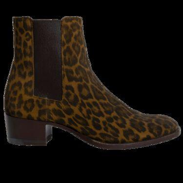 Saint Laurent Leopard Chelsea Boots