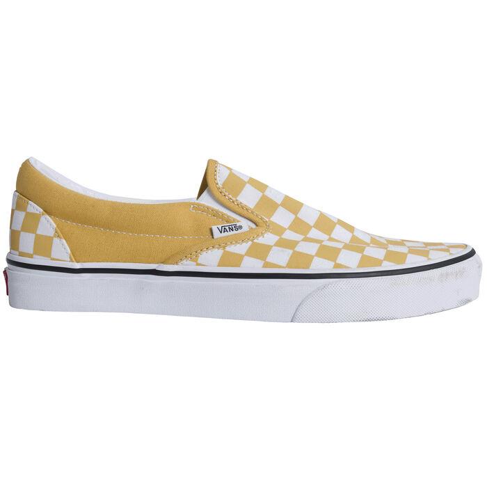 Vans Classic Slip On Checkerboard Ochre True White