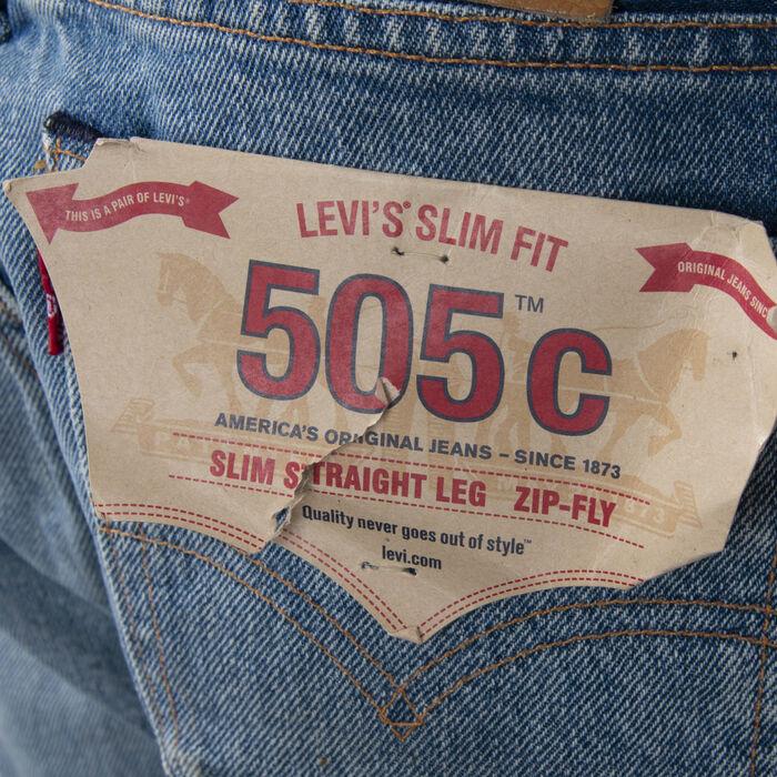 Levi's 505c Distressed Slim Straight Leg Jeans