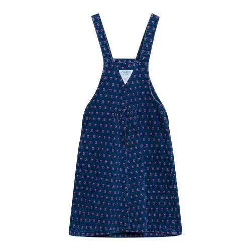 Vintage OshKosh Denim Overall Ditzy Floral Dress
