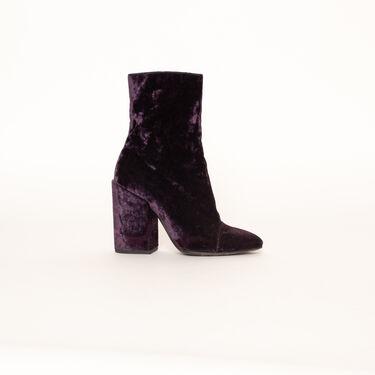 Dries Van Noten Crushed Velvet Heeled Boots