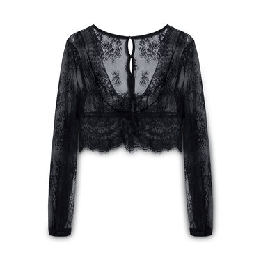 Out From Under Black Black Mesh Blouse