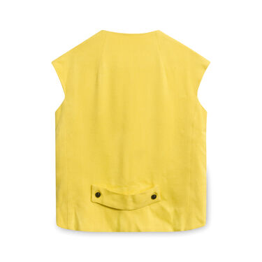 Vintage Double Breasted Yellow Vest