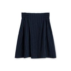 Ganni Pinstripe Navy Skirt