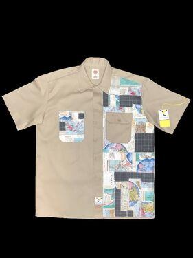 Axecents Map Pack S/S Work Shirt - Khaki