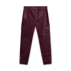 7 for All Mankind High Waist Coated Ankle Skinny Jeans - Red