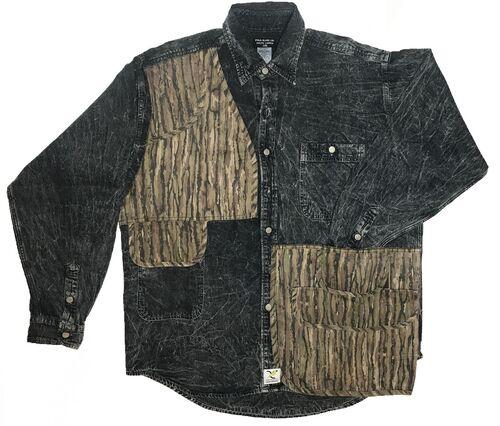 Camo Vest Hybrid Button Up - Black/Camo