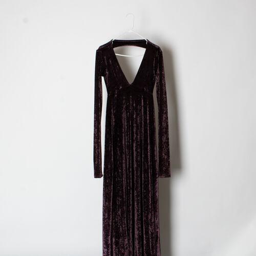 American Gold Velvet Maxi Dress