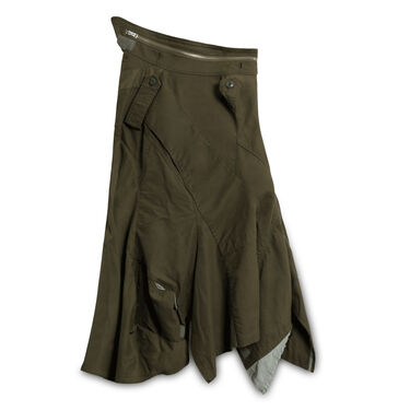 Comme des Garcons x Junya Watanabe Military Skirt - Olive Green