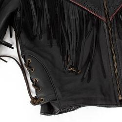 Vintage Force Fringe & Leather Jacket