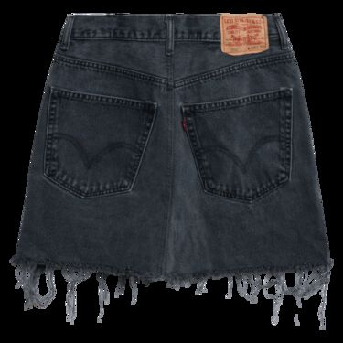 Levi's Vintage 550 Denim Skirt - Washed Black