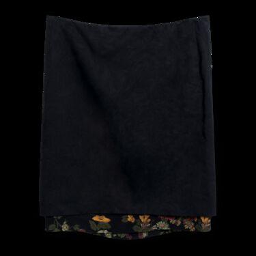 Dries Van Noten Slip Skirt with Floral Insert