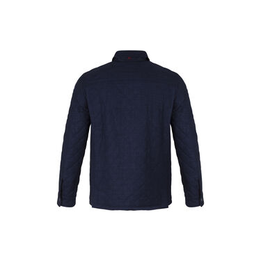 Isaia Blue Quilted Shirt Jacket