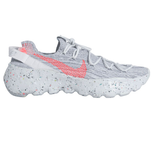 Nike Women's Space Hippie 04 Sneaker in Summer White/Hyper Crimson