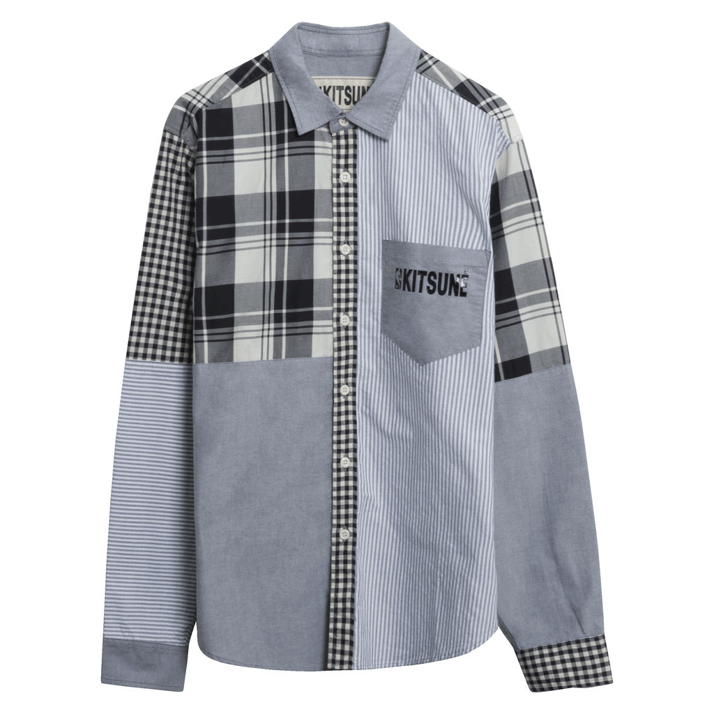 Maison Kitsune x NBA checked shirt
