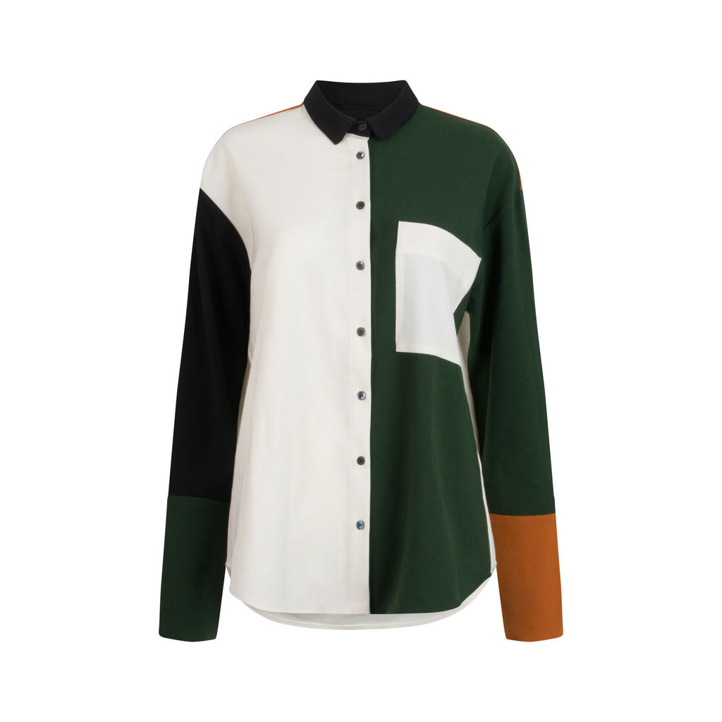 Chinti & Parker Colorblock Button-Down Shirt