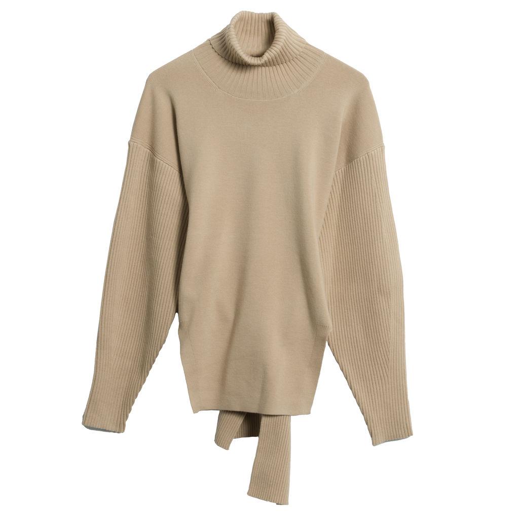 Jonathan Simkhai Eleanor Tie-Back Turtleneck Sweater