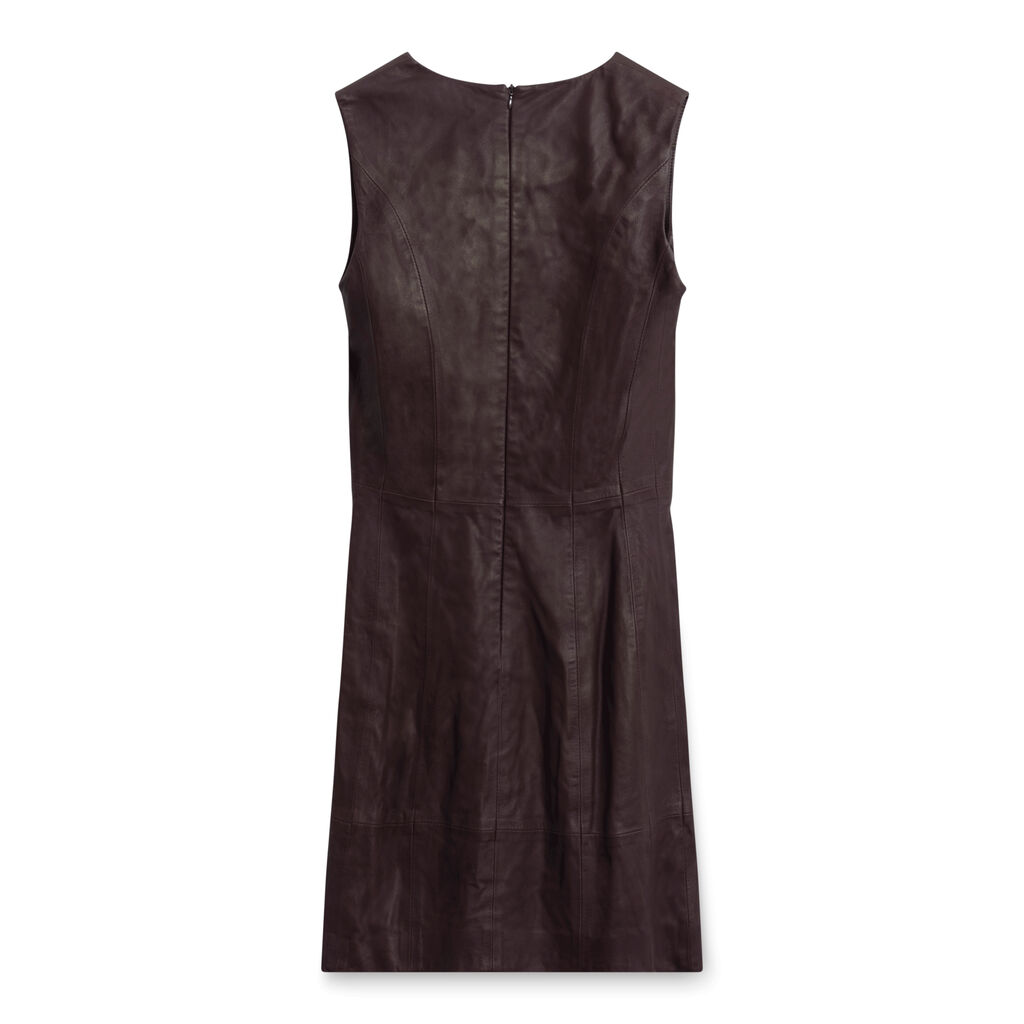 Bod & Christensen Brown Leather Dress