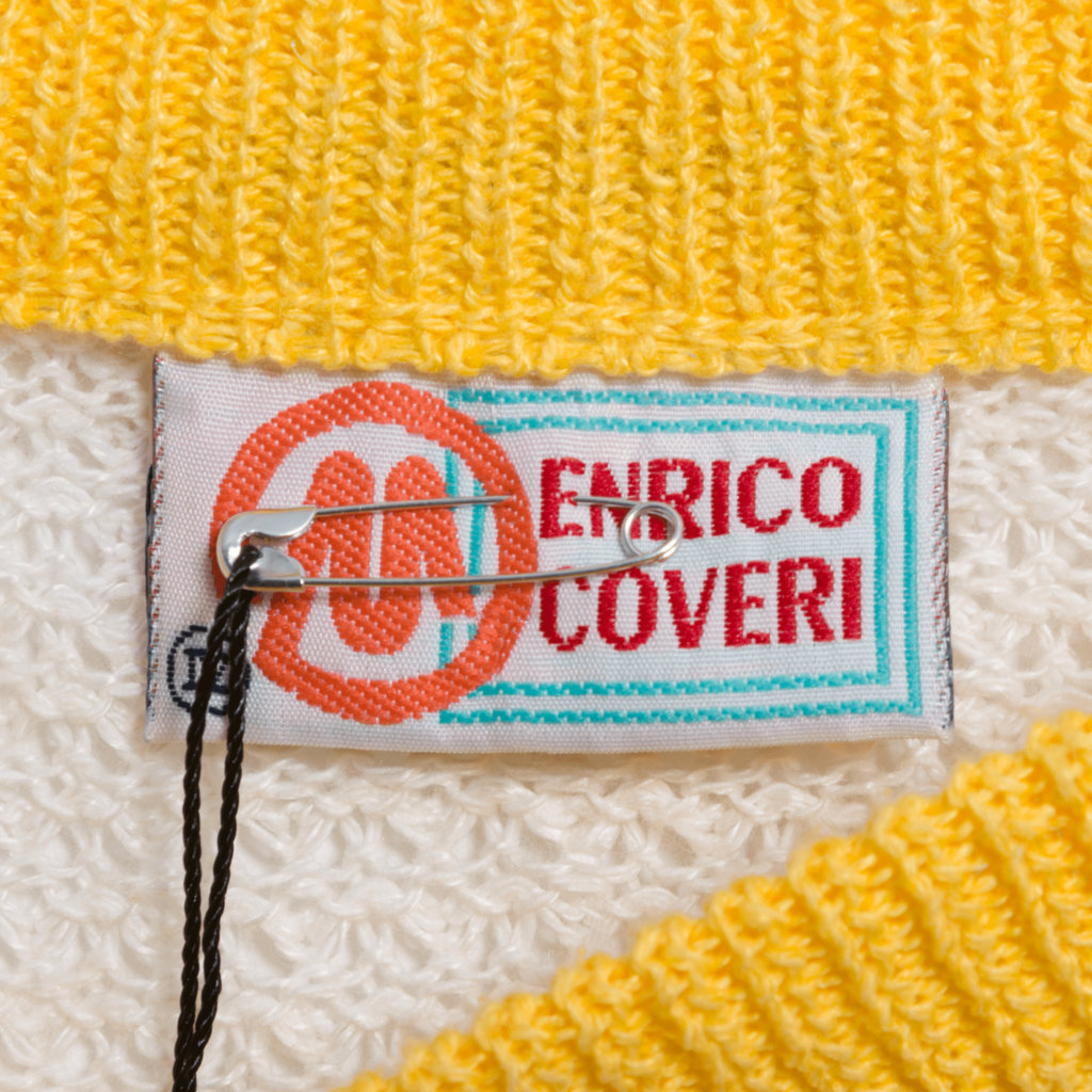 Vintage Enrico Coveri 80s Color Block Pullover