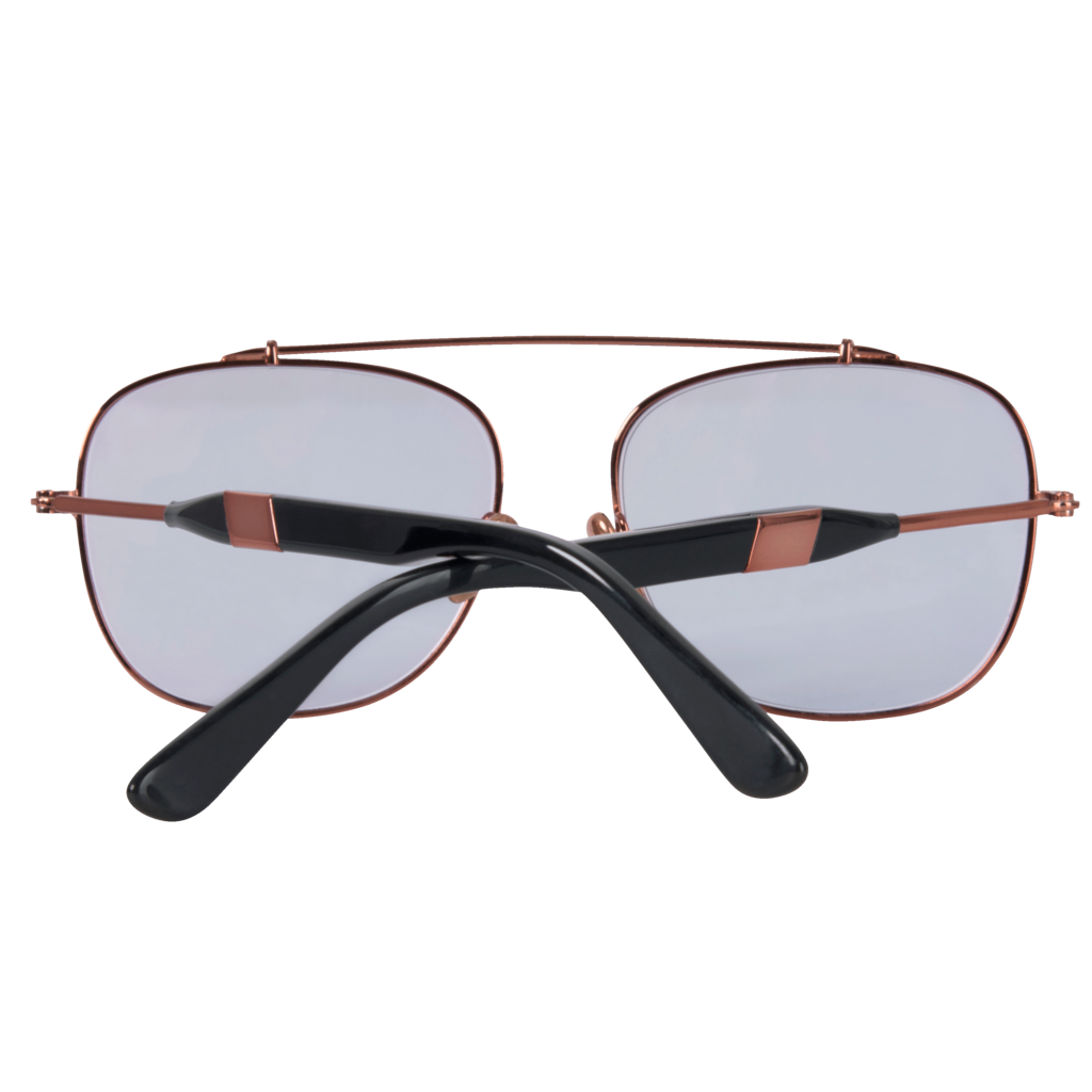 Westward \\ Leaning-  Malcolm Polished Rose Gold Sunglasses