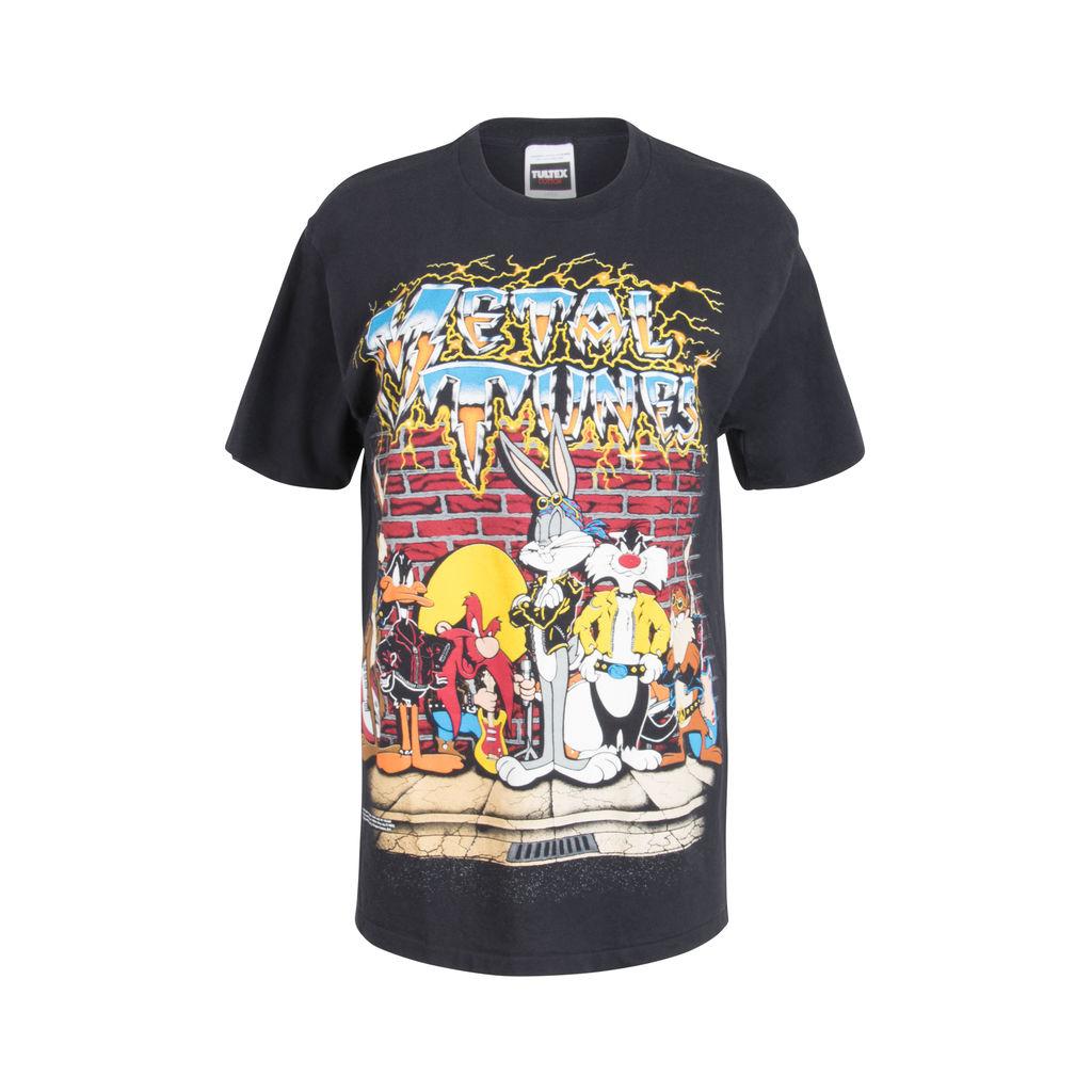 Vintage 1992 Metal Looney Tunes Graphic T-Shirt