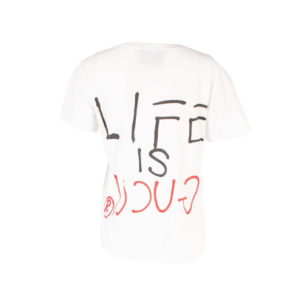 """Gucci """"Life is Gucci"""" Printed Cotton T-Shirt"""