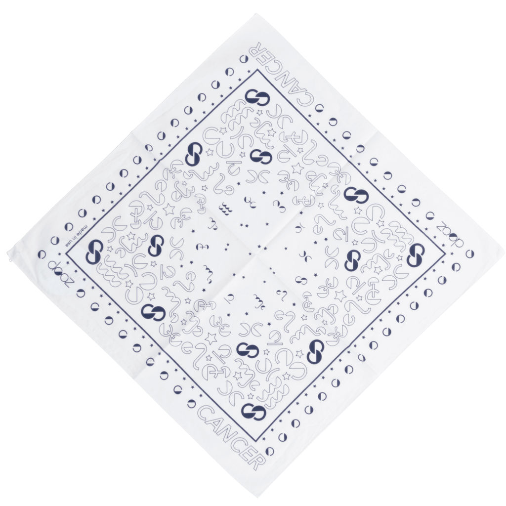 DOOZ Cancer Bandana + Keychain Set in White