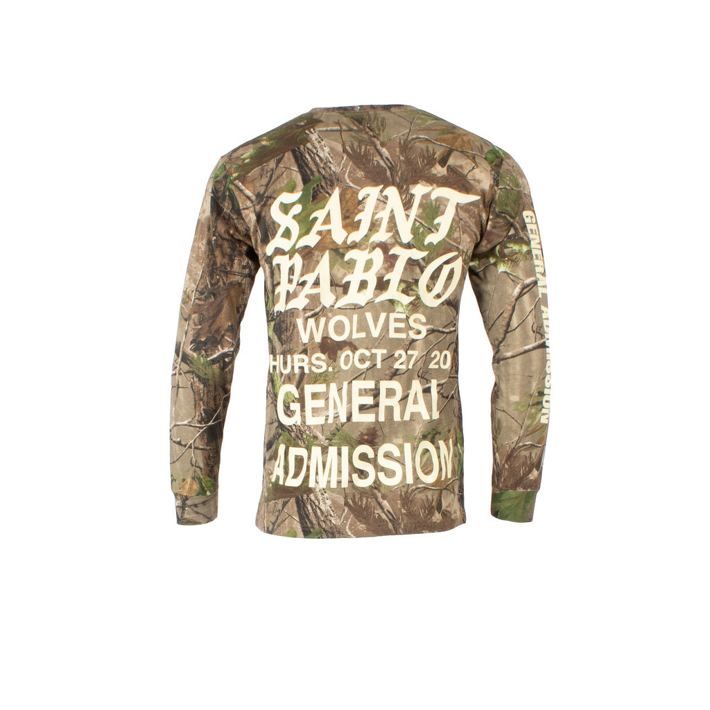 Kanye West Saint Pablo Tour Long Sleeve Shirt in Camo