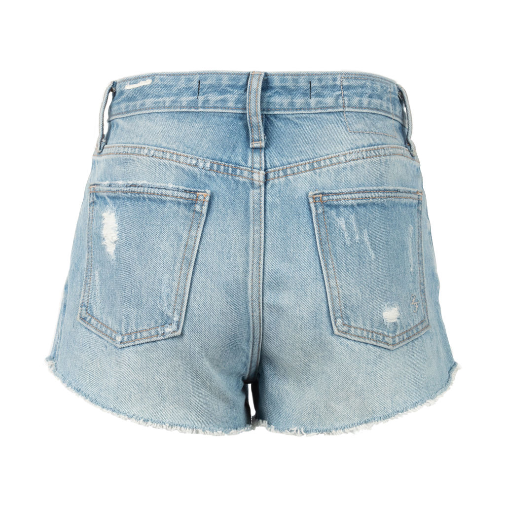 Lovers + Friends High Rise Distressed Jean Shorts
