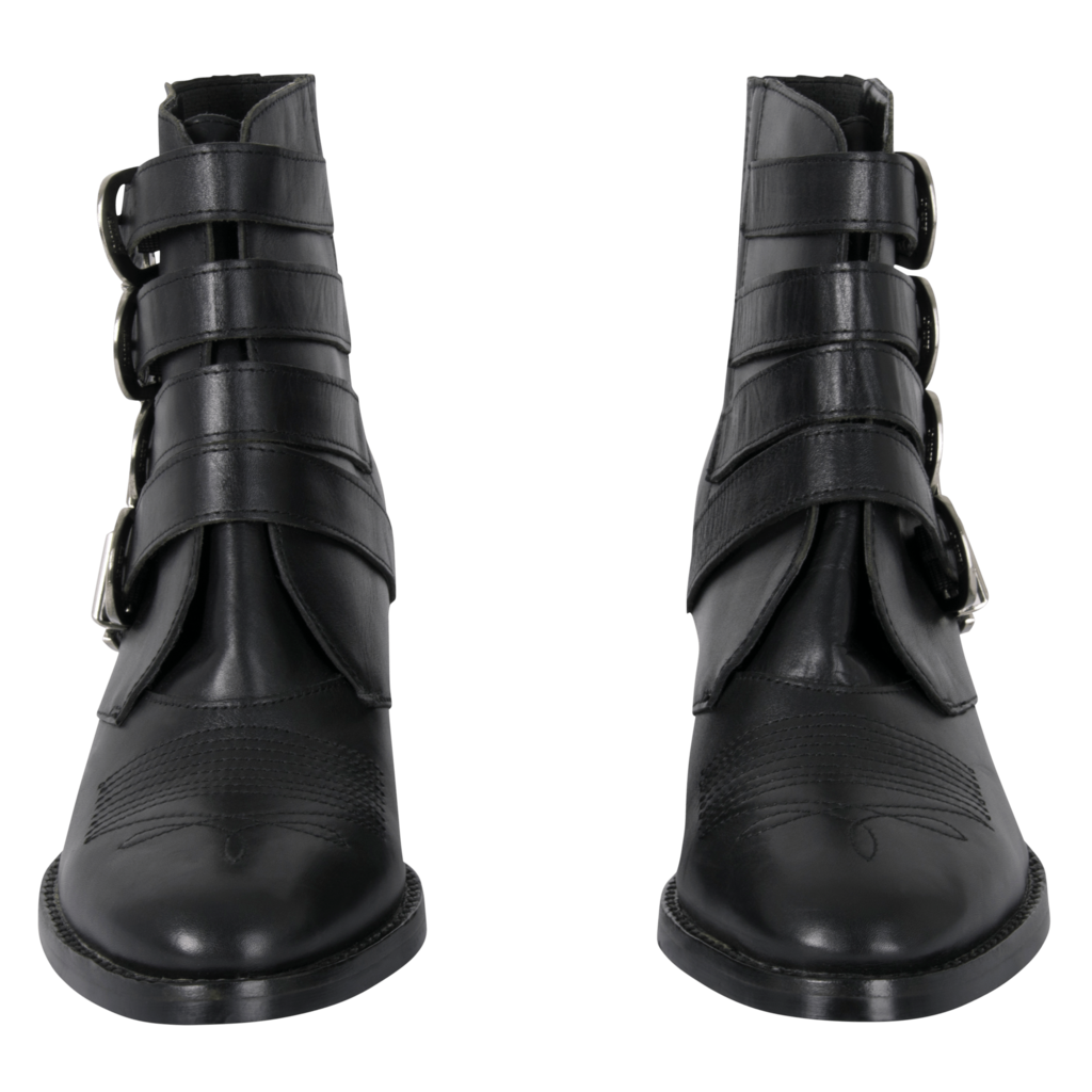 Tony Bianco Frenchy Black Jetta Polish Ankle Boots