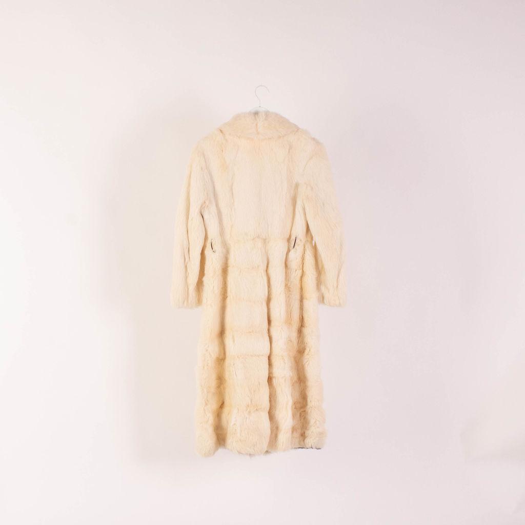Vintage White Fur Trench Coat