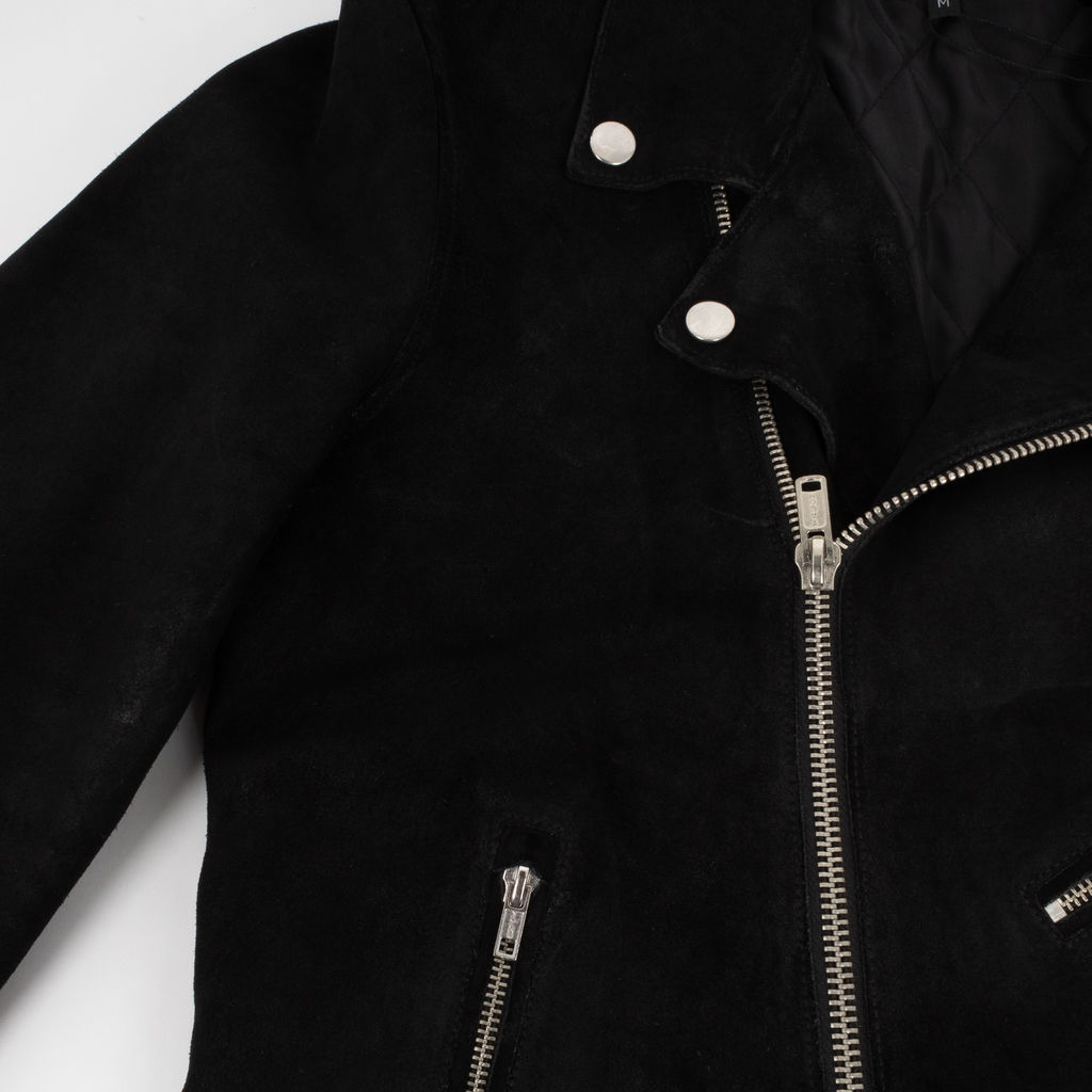 Black Suede Motorcycle Jacket