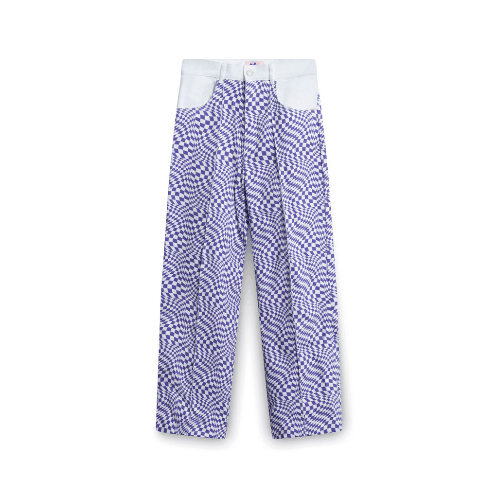 Lisa Says Gah! Purple Warp Checkered Pants