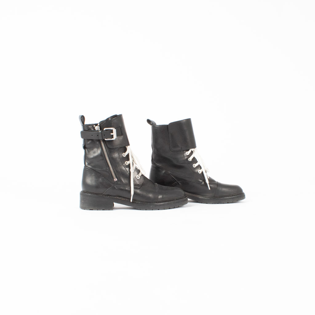 All Saints Daria Cuffed Combat Boots