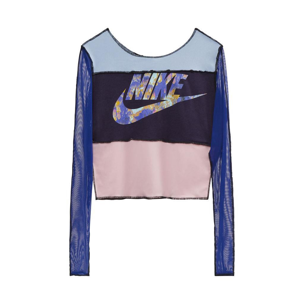 JJVintage Reworked Nike Long Sleeve Top in Blue/Pink/Purple