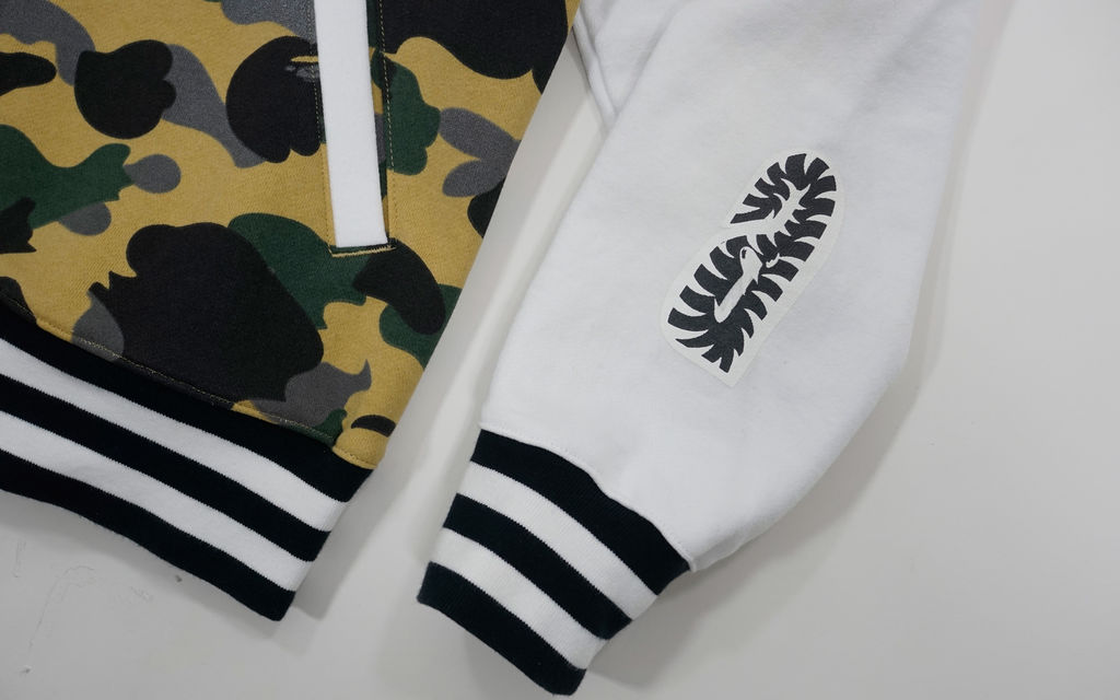 BAPE Zozo Exclusive Half 3M 1st Camo Shark Sweat Varsity Jacket